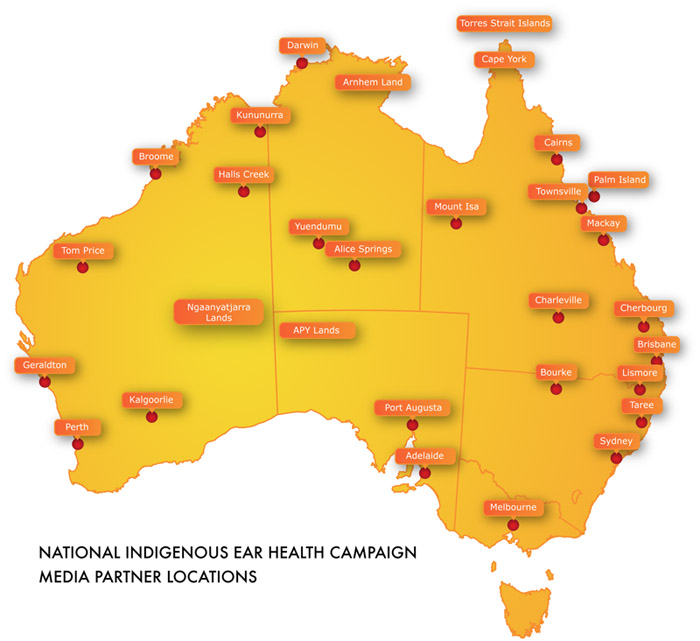 National Indigenous Ear Health Campaign media partners, Australia